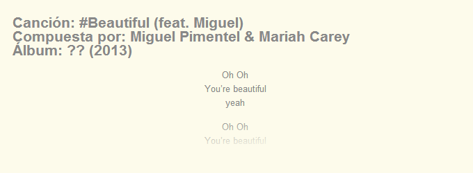 Letra de #Beautiful de Mariah Carey