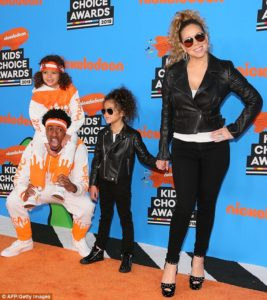 Mariah Carey, Nick Cannon, Moroccan & Monroe @ Orange Carpet Kids Choice Awards 2018
