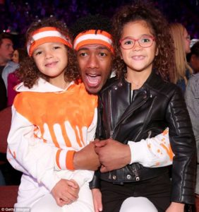 Nick, Monroe, Moroccan at Kids Choice Awards 2018